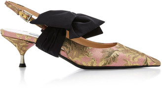 Prada Exclusive Brocade Slingback Pumps