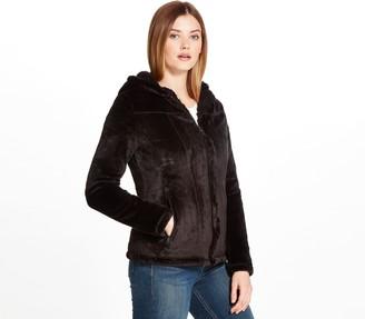 Weatherproof Cozy Sherpa-Lined Hooded Fleece Jacket