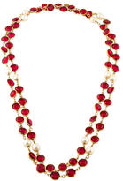 Chanel Crystal & Faux Pearl Station Necklace