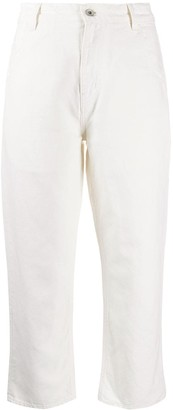 YMC Cropped Straight-Leg Trousers