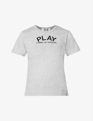Comme des Garcons Heart-print cotton-jersey T-shirt