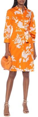 Carolina Herrera Floral stretch-cotton shirt dress