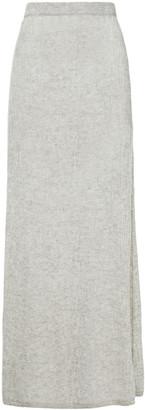 Gabriela Hearst Flinch Melange Open-knit Cashmere And Silk-blend Maxi Skirt