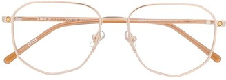 S'nob Dodo hexagon-frame glasses