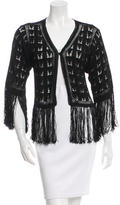 Anna Sui Fringed Single-Button Cardigan