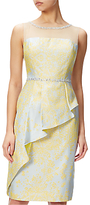 Adrianna Papell Jacquard Cascade Peplum Sheath Dress, Sunbeam/Multi