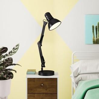 "Hashtag Home Deschamps 28"" Desk Lamp Finish: Black"