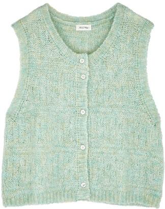 American Vintage Dolsea green sleeveless mohair-blend cardigan