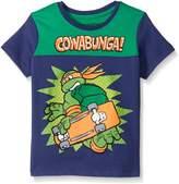 Nickelodeon Teenage Mutant Ninja Turtles Little Boys' Toddler Short Sleeve Raglan T-Shirt