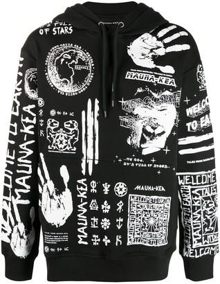 Mauna Kea Symbol Print Longe Sleeve Hoodie