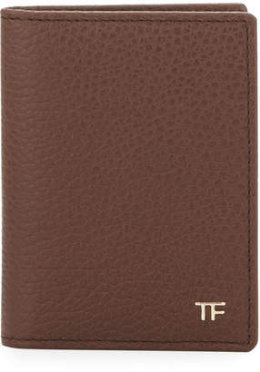 Tom Ford Folded Calfskin Credit Card Case, Brown