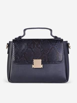Dorothy Perkins Square Lock Cross-Body Bag - Black
