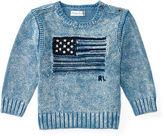 Ralph Lauren Boy Flag Indigo Cotton Sweater