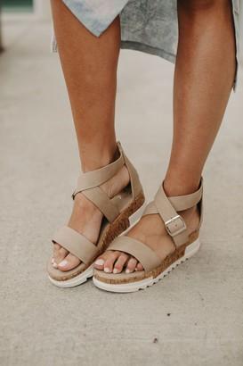 Wendy Buckle Wedge Sandals