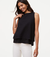 LOFT Eyelet Tiered Top