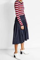 Jil Sander Navy Cotton Skirt