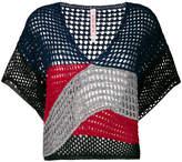 Antonio Marras colour block open knit top