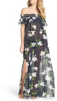 Robin Piccone Women's Sheer Off The Shoulder Cover-Up Dress