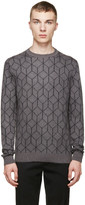 Christopher Kane Grey Mohair 3d Cube Sweater