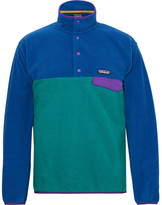 Patagonia Snap-t Colour-block Synchilla Fleece Pullover - Cobalt blue