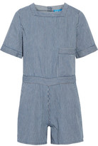MiH Jeans Biarritz Striped Cotton Playsuit