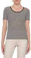 Akris Punto Women's Lace Detail Stripe Tee
