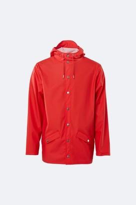 Rains Waterproof Unisex Jacket Red - XXS/XS
