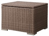 Threshold Heatherstone Wicker Patio Sectional Storage Ottoman