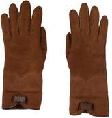 Hermes Shearling Suede Gloves
