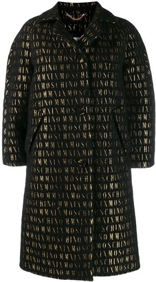 Moschino Roman Embroidered Button-Up Coat