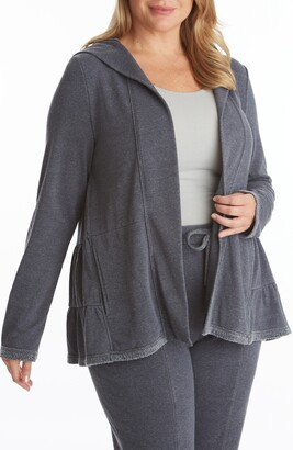 Adyson Parker Tiered Hooded Burnout Cardigan