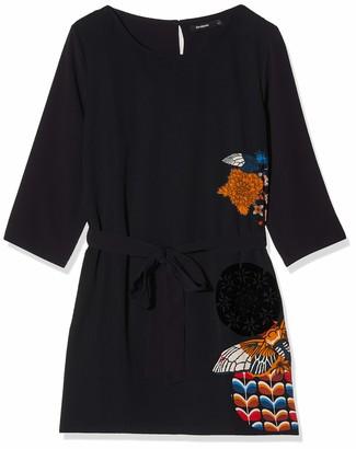 Desigual Women's Brad Woman Woven 3/4 Sleeve Dress