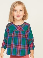 Old Navy Plaid Twill Swing Top for Toddler Girls