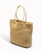 Soma Intimates Flora Bella York Large Crochet Tote Wheat/Gold