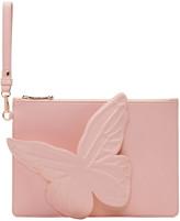 Sophia Webster Pink Flossy Butterfly Pouch