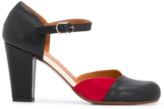 Chie Mihara 85mm Contrasting Panel Pumps