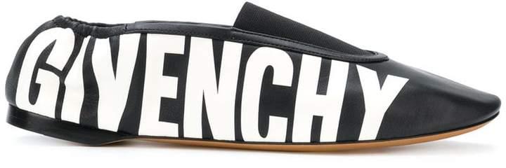 Givenchy logo print ballerinas