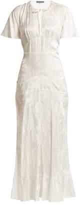 ALEXACHUNG Silk Blend Jacquard Dress - Womens - White