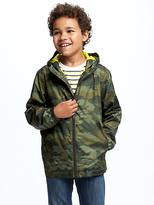 Old Navy Jersey-Lined Camo Windbreaker for Boys