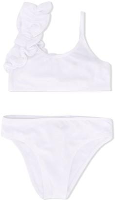 Douuod Kids Ruffled Detail Bikini Set