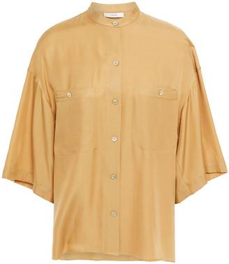 Vince Silk-blend Twill Shirt