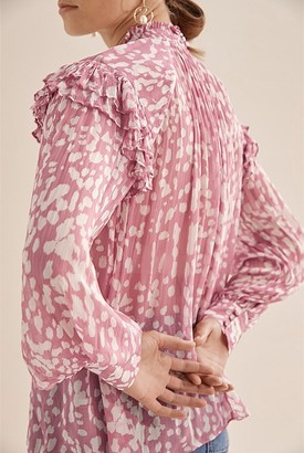 Country Road Print Frill Detail Blouse
