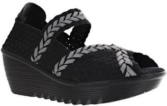 Bernie Mev. Pull-On Wedge Sandals - Braided Halle