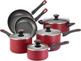 Farberware 10-pc. Nonstick High Performance Nonstick Cookware Set, Red