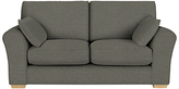 John Lewis Leon Medium 2 Seater Sofa, Light Leg, Camber Steel