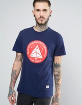 Penfield Aim High Circle Print T-Shirt in Navy