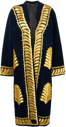 A.N.G.E.L.O. Vintage Cult Open Front Embroidered Coat