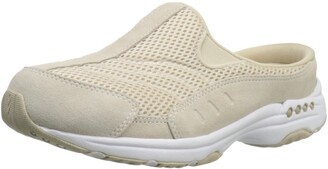 Easy Spirit womens Traveltime Clog Light Natural/White 6 XW US