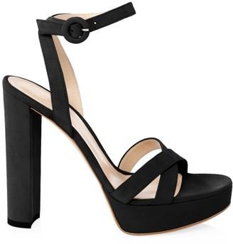 Gianvito Rossi Poppy Suede Platform Sandals