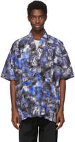 Issey Miyake Blue Printed Pleat Popover Shirt